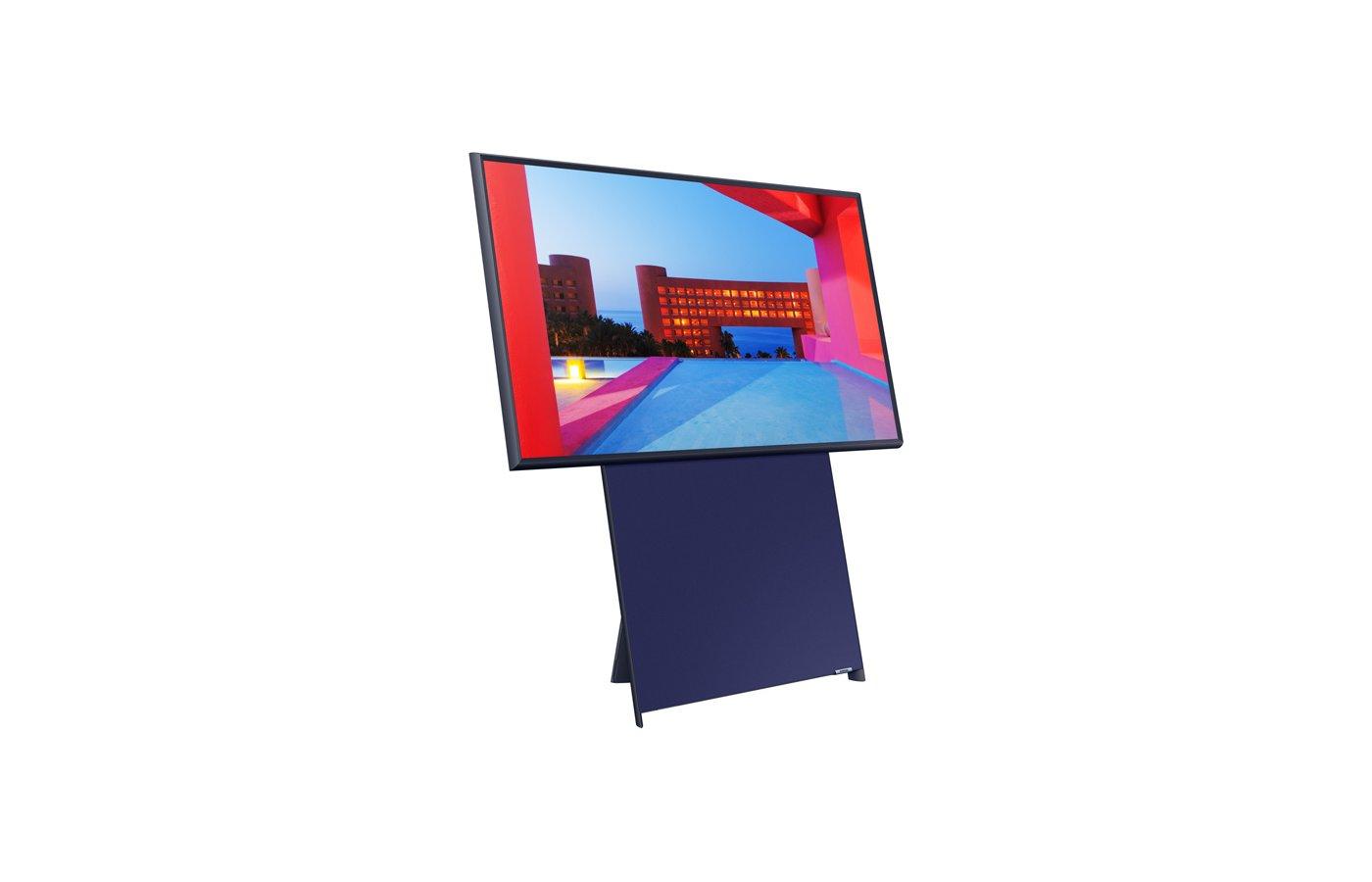 Телевизор QLED Samsung The Sero QE43LS05TAU 43″ (2020), темно-синий